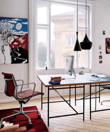 Casa en Copenhagen - despacho dos mesas