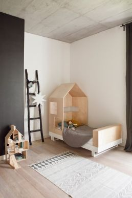 Gris para niños-combina muy bien con madera natural