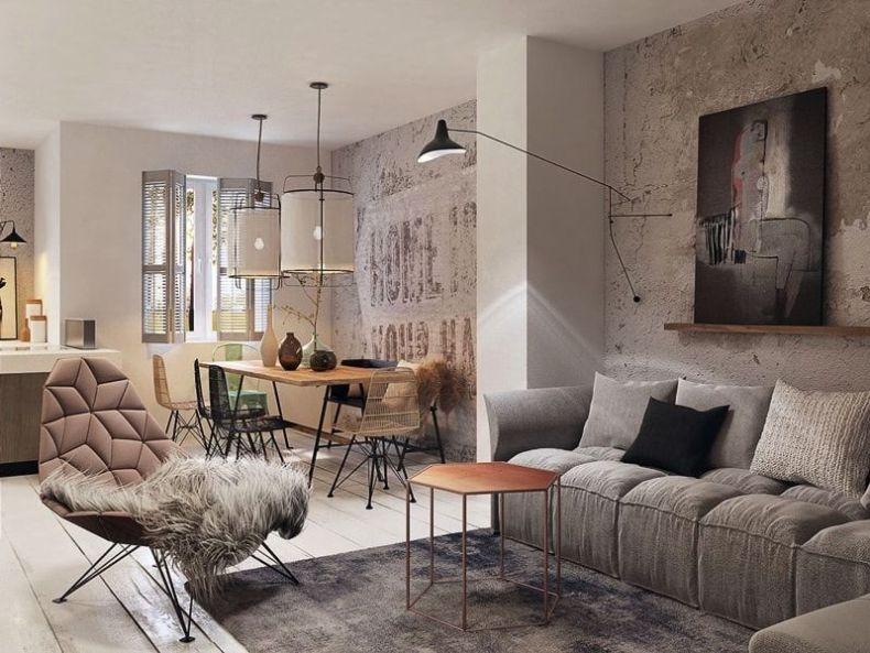 Salón ideado por Razoo Architekti