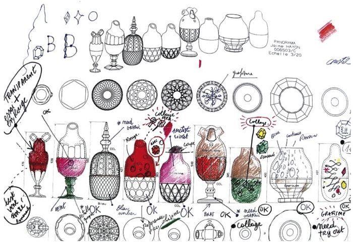 Dibujos de Jaime Hayón para Baccarat