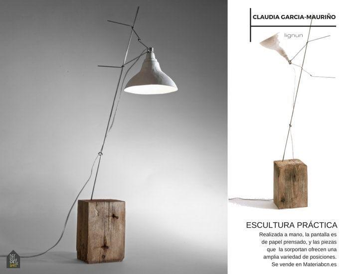 Una escultura que también es lámpara de lectura: Lignun de Claudia Garcia