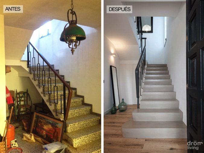 Antes-después de las escaleras
