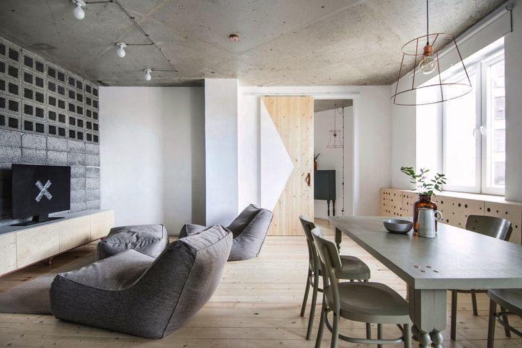 Espacios minimalistas en pisos pequeños
