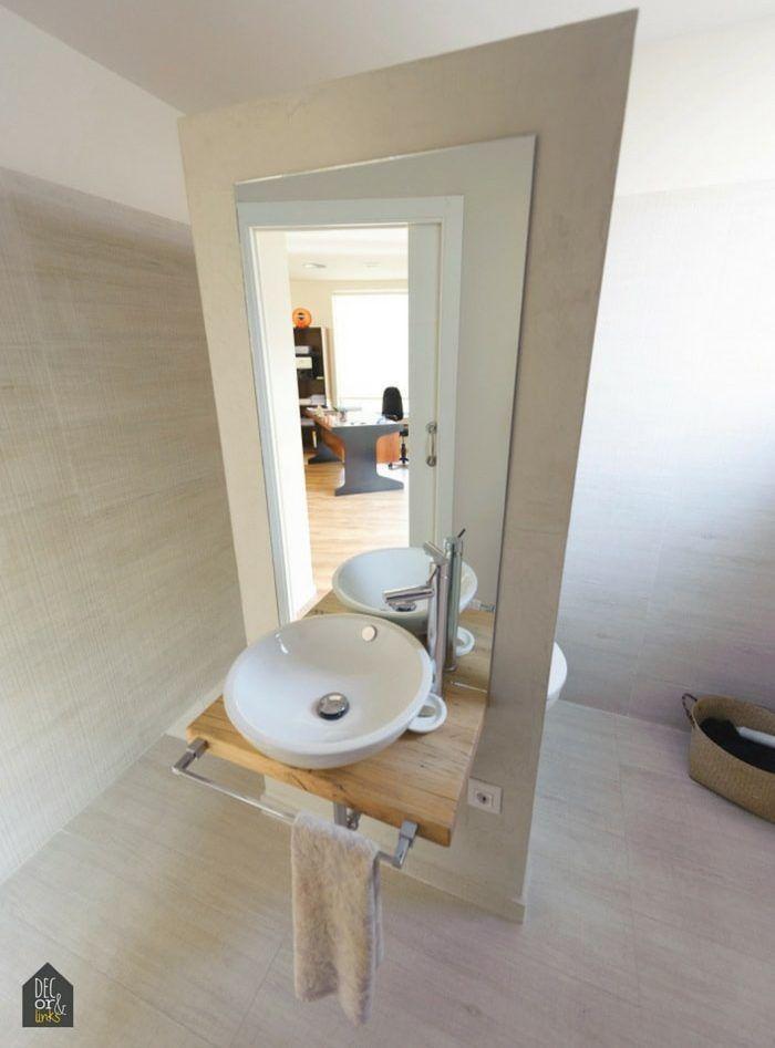 baño pequeño pero con espacios independientes