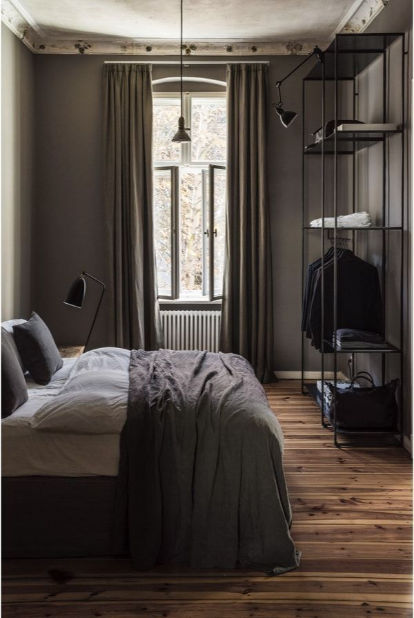 dormitorio decorado en estilo masculino