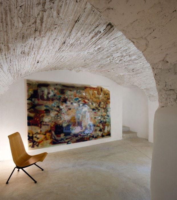techos abovedados para destacar la galeria de arte