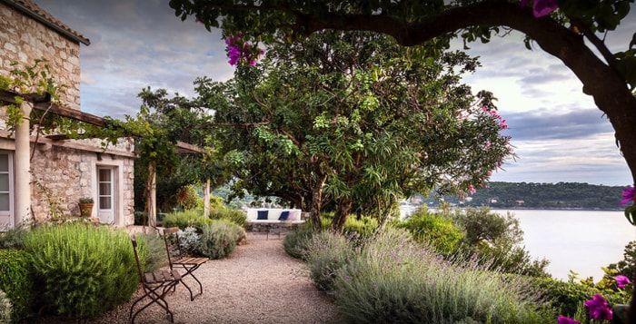 jardin rural con plantas locales