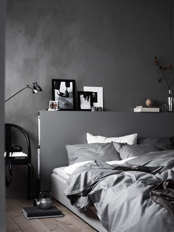 dormitorio con cabecero diy - idea de ikea