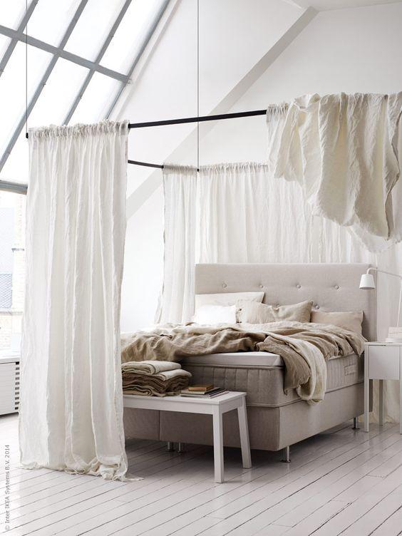dormitorio ikea con dosel diy