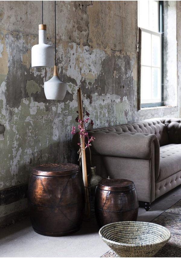 paredes desconchadas como elemento decorativo