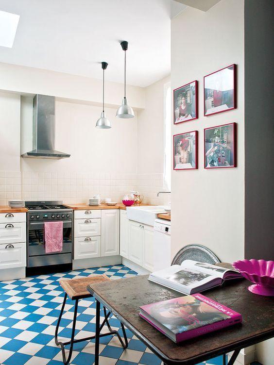 amazing floor in the kitchen