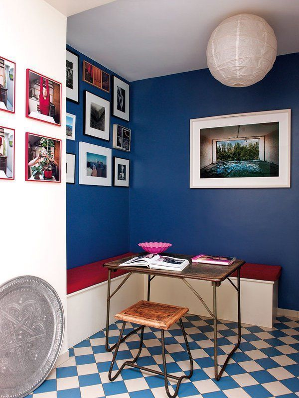 A cobalt blue wall