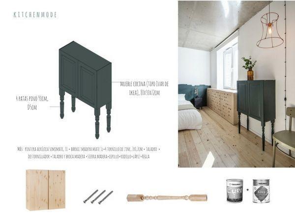 diy - a dresser from a kitchen cupboard