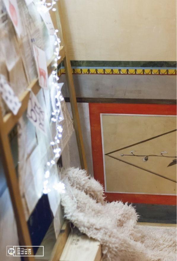 arbol de navidad hecho con bastidor de cuadro