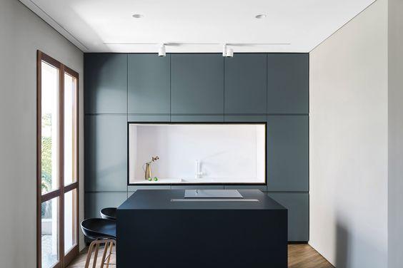 cocinas abiertas con frente integrado