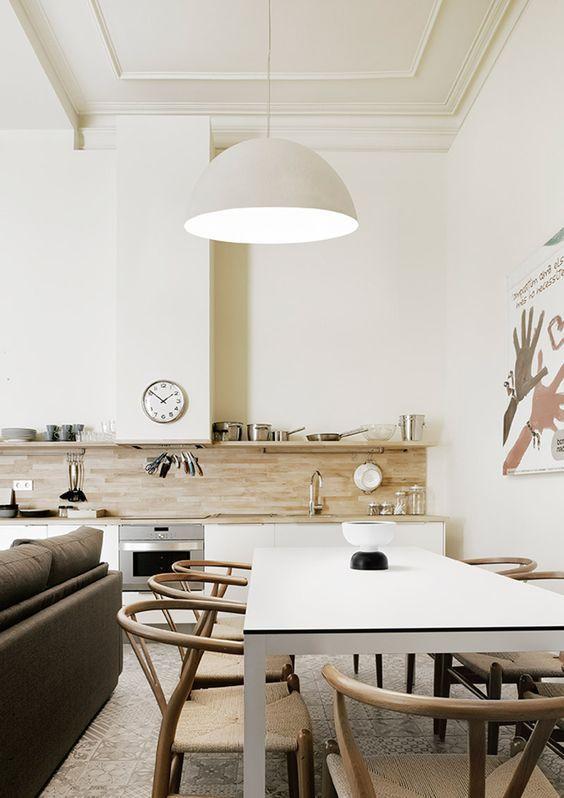 cocinas abiertas con muebles bajos