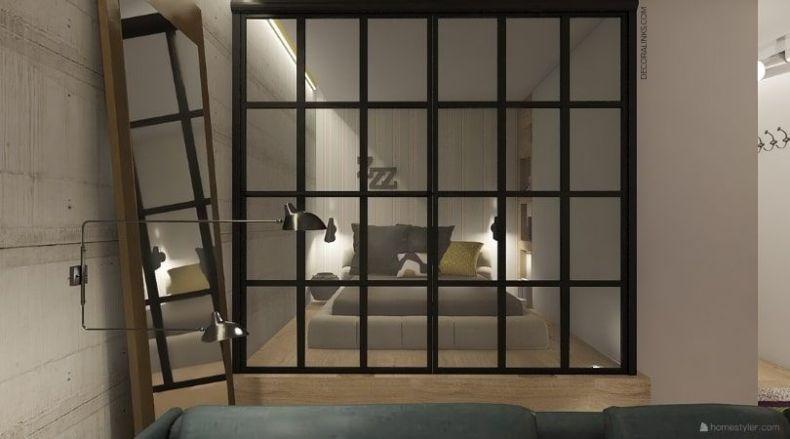 decoralinks  reforma de un apartamento en Barcelona, puertas de crittal