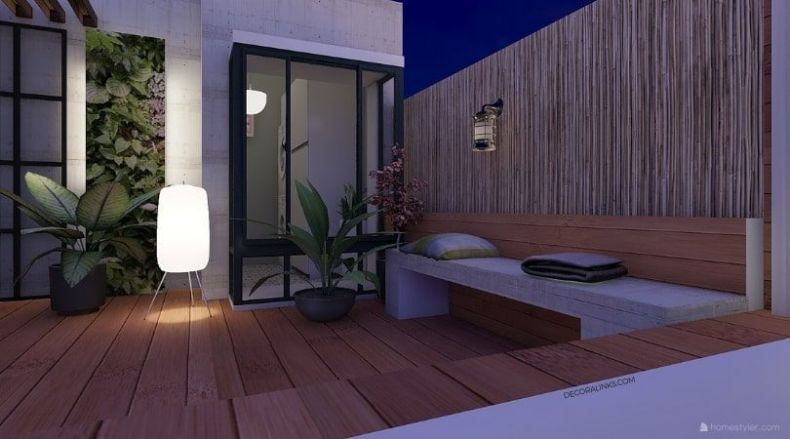 decoralinks   reforma de un apartamento en Barcelona, laundry room y terraza