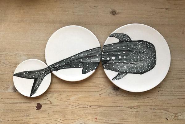 en casa de Nuria Blanco - platos de la serie duozoo