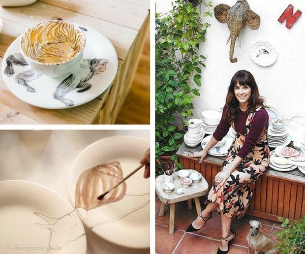 En casa de Nuria Blanco - detalles de sus vajillas