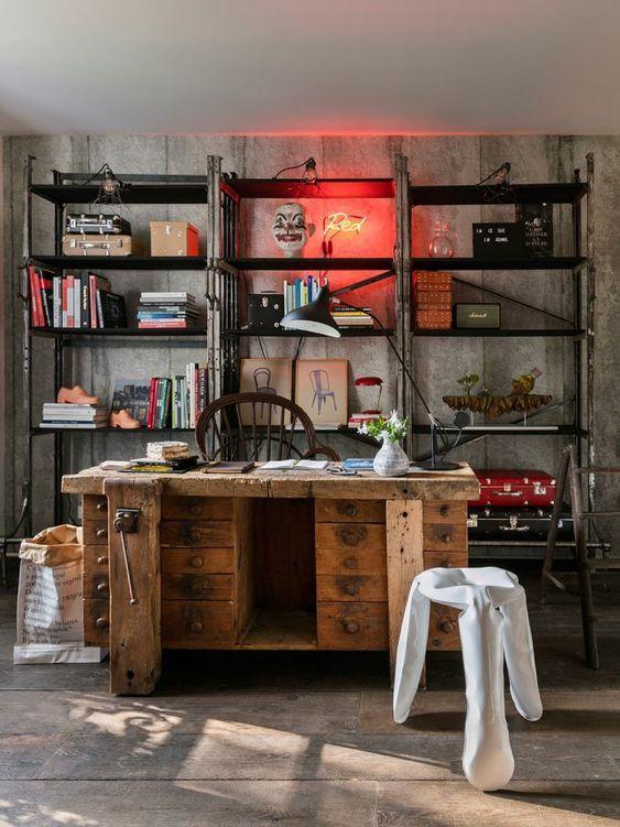 trabajar desde casa - estilo industrial