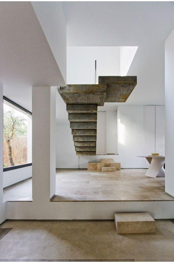 escaleras Abaton que son pura escultura