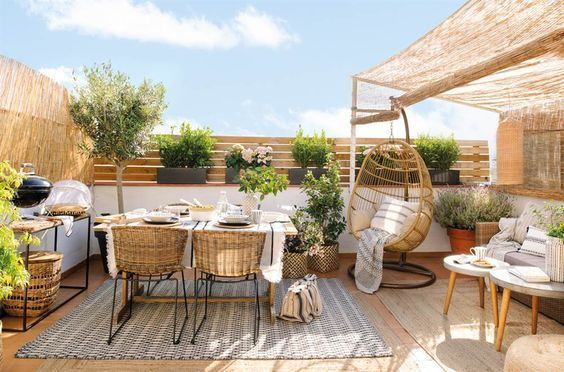 decoralinks  sistemas para ocultar terraza - mimbre