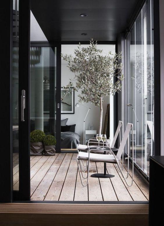 decoralinks | cortinas de cristal en porches de entrada