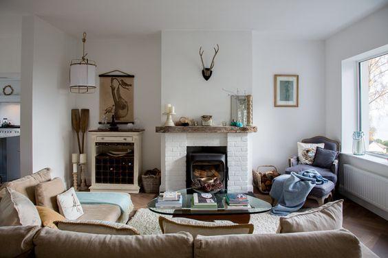 decoralinks | salon estilo nordicos con astas de ciervo