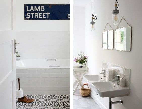 decoralinks | white bathroom with some vintage details