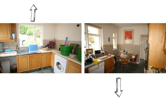 antes y despues de una casa irlandesa - cocina