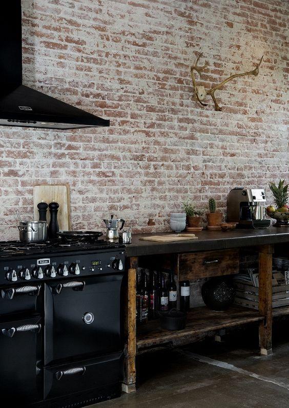 decoralinks | cocinas negras estilo wabi-sabi