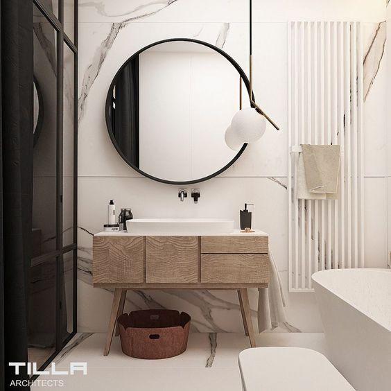 decoralinks   how to make your bathroom look bigger - muebles estilo retro
