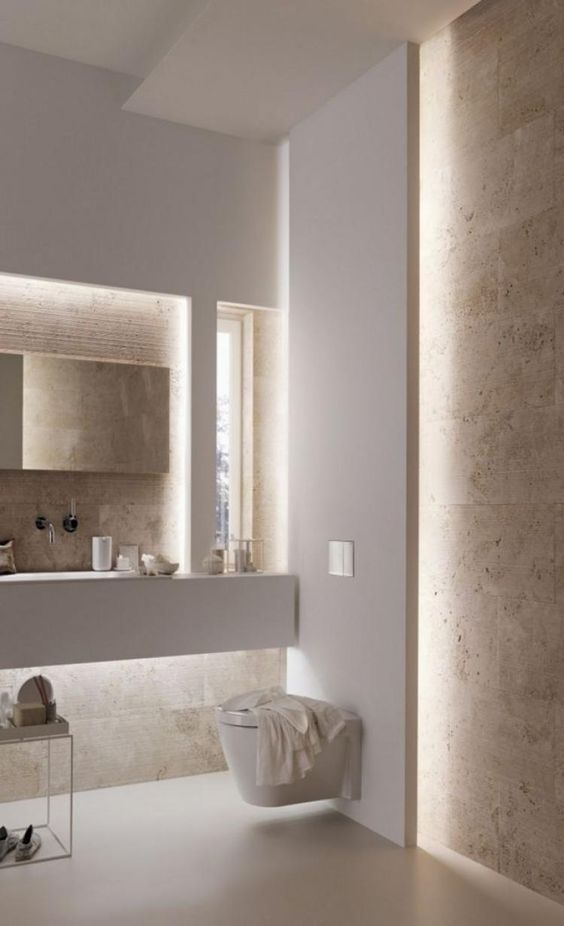 decoralinks | how to make your bathroom look bigger - luces led