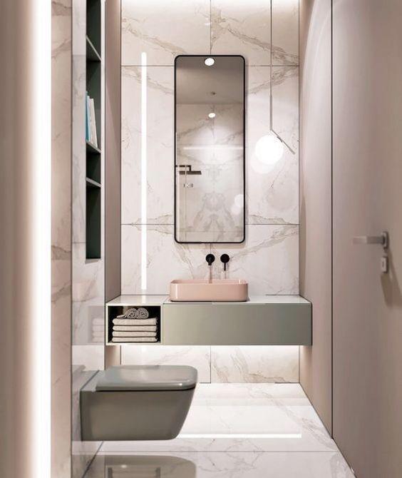 decoralinks   how to make your bathroom look bigger - tonos pastel