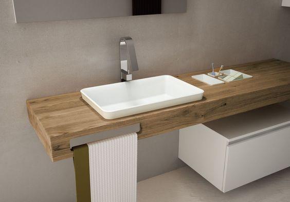decoralinks | how to make your bathroom look bigger - encimeras voladas