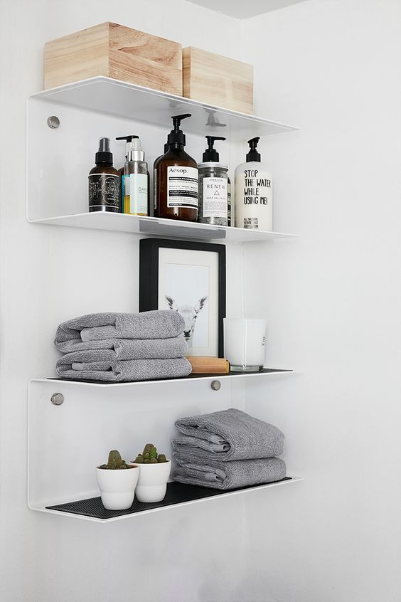 decoralinks | estanterias metalicas blancas de vipp - bathroom
