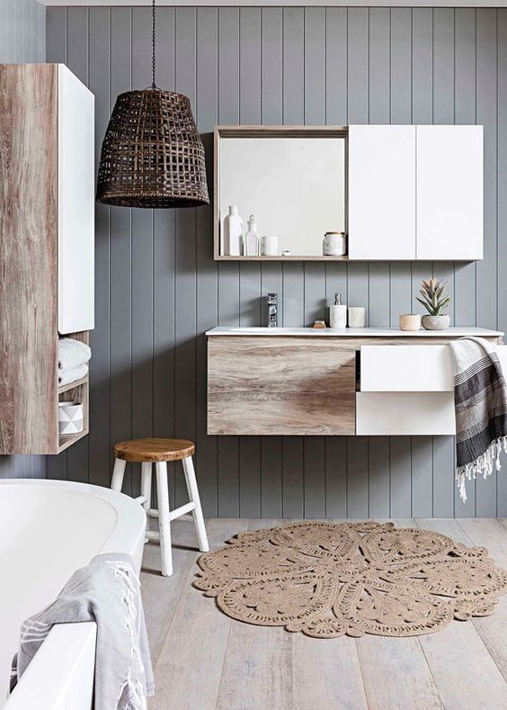 decoralinks | how to make your bathroom look bigger - mural cabinets