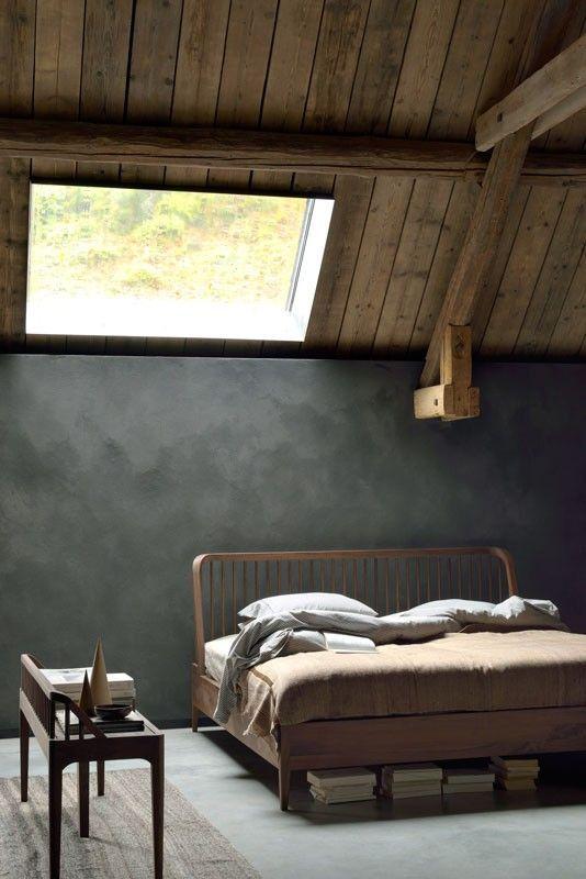 decoralinks   dormitorios nordicos - cama Spindle de Ethnicraft