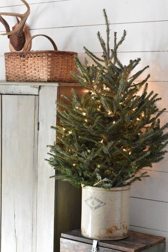 decoralinks | Navidad en verde - abeto con base metalica
