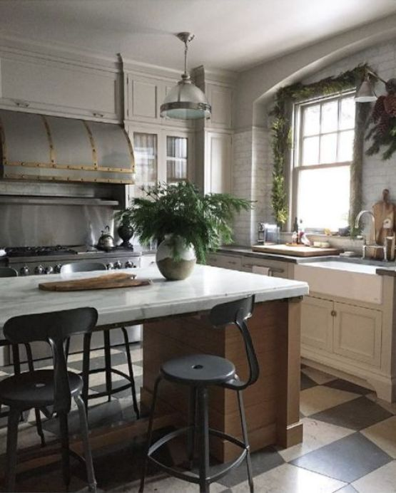 decoralinks | Navidad en verde - guirnalda de abeto para la ventana cocina