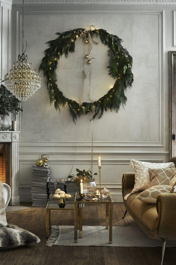 decoralinks | Navidad en verde - corona de adviento xxl