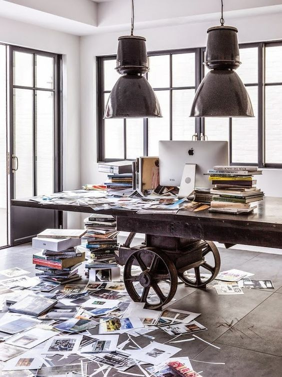 decoralinks | Diane Keaton's office with a 350cm long office table