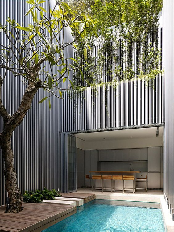 decoralinks | terraced house in singapore with swimming pool