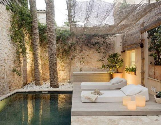 decoralinks   piscina pequeña en patio hotel mallorca
