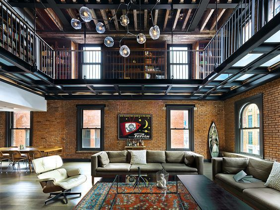 decoralinks | industrial style for a masculine triplex in NY