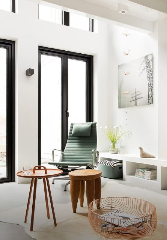 decoralinks | house in Amsterdam - green eames style armchair