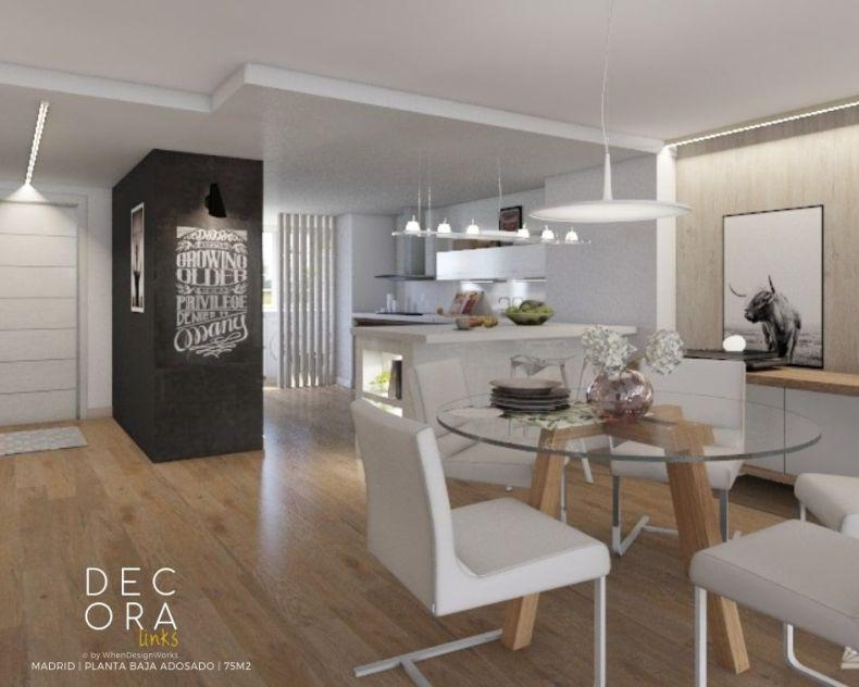 decoralinks   reforma de adosado en Madrid -comedor