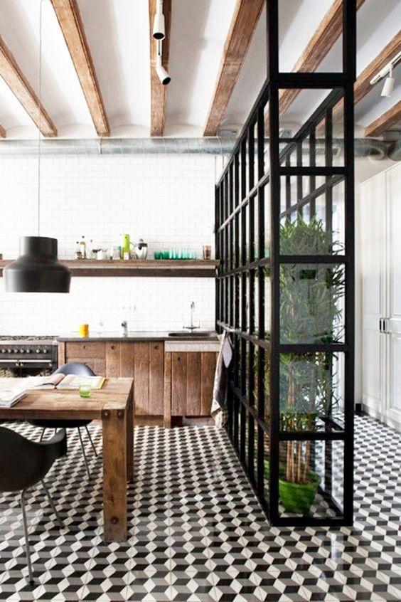 decoralinks| separa ambientes con estructura metalica para plantas