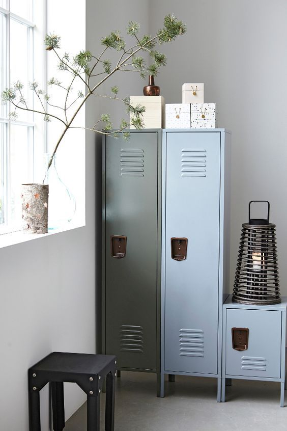 decoralinks   blue and green lockers from housedoctor